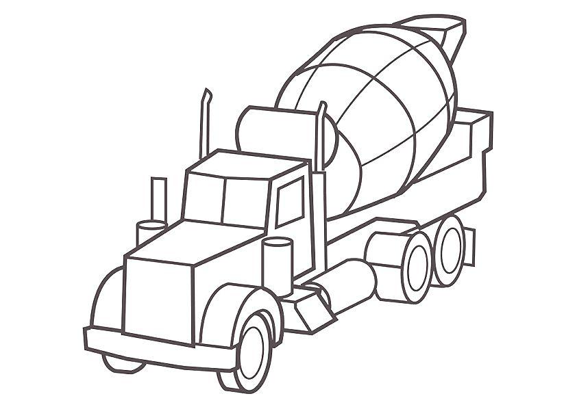 camiones para colorear 14 camion cisterna
