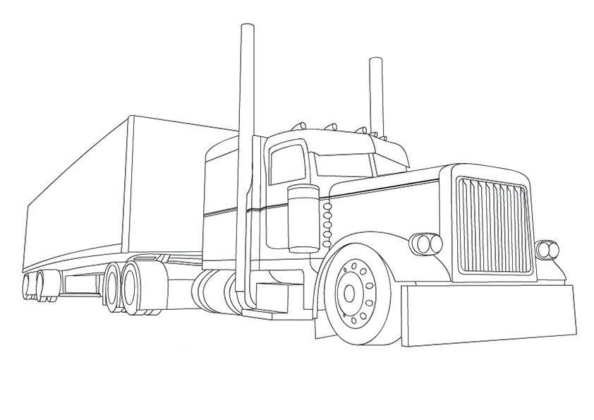 camiones para colorear 16