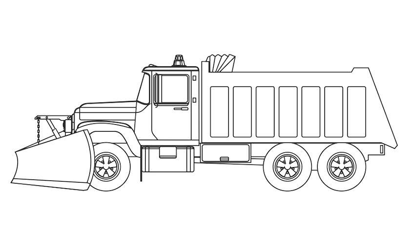 camiones para colorear 2 quitanieves