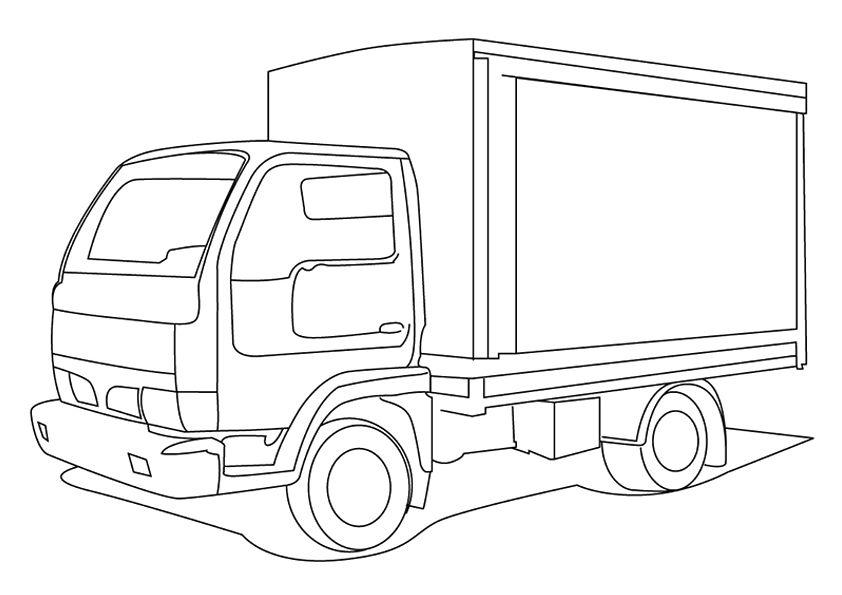 camiones para colorear 4