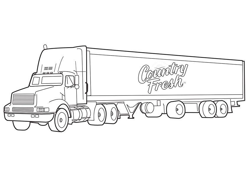 camiones para colorear 5