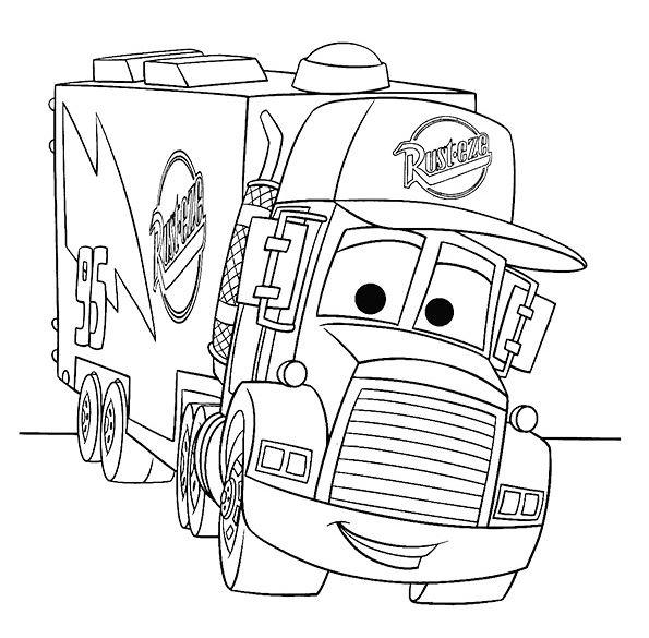 camiones para colorear 6 cars