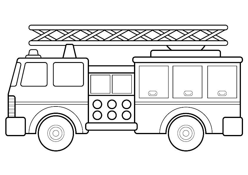 camiones para colorear 7 camion de bomberos
