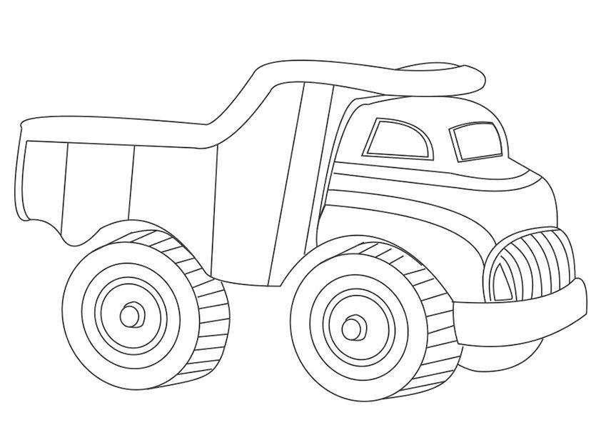 camiones para colorear 8 camion de la basura