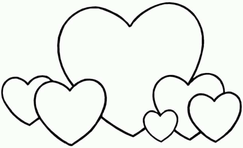 corazones para colorear 1
