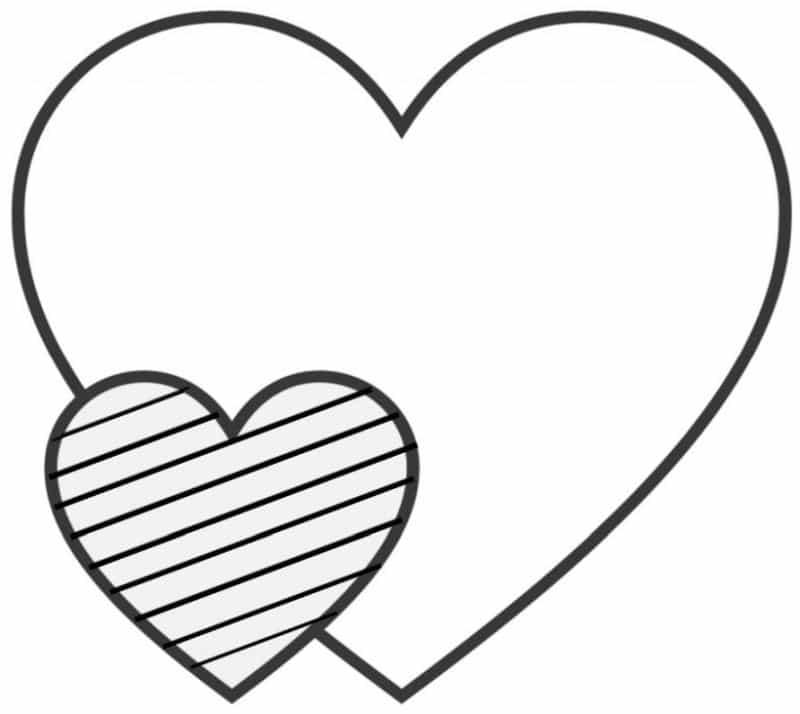 corazones para colorear 13