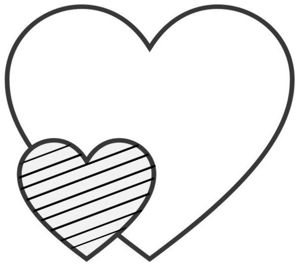 corazones para colorear 18 corazon grande y pequeno