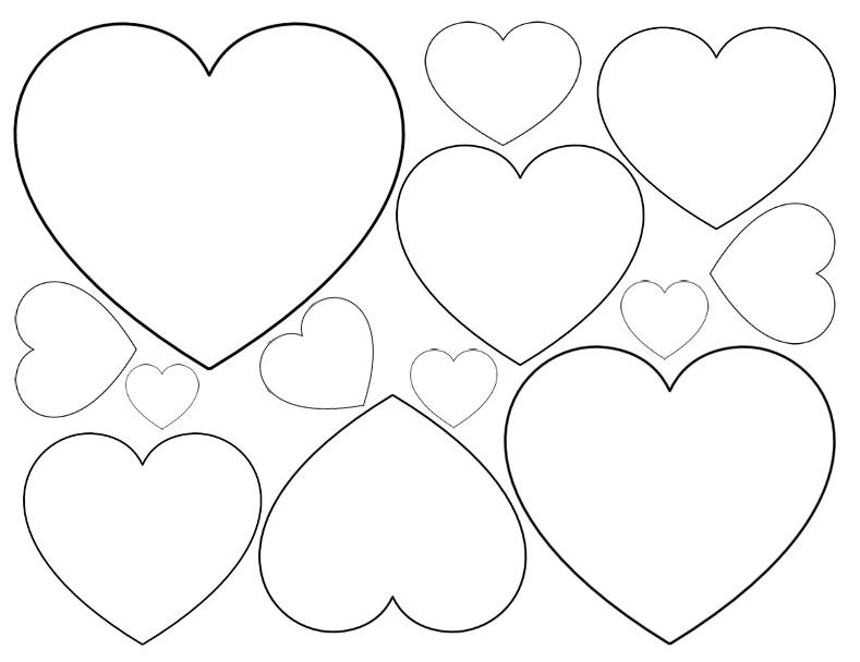 corazones para colorear 2