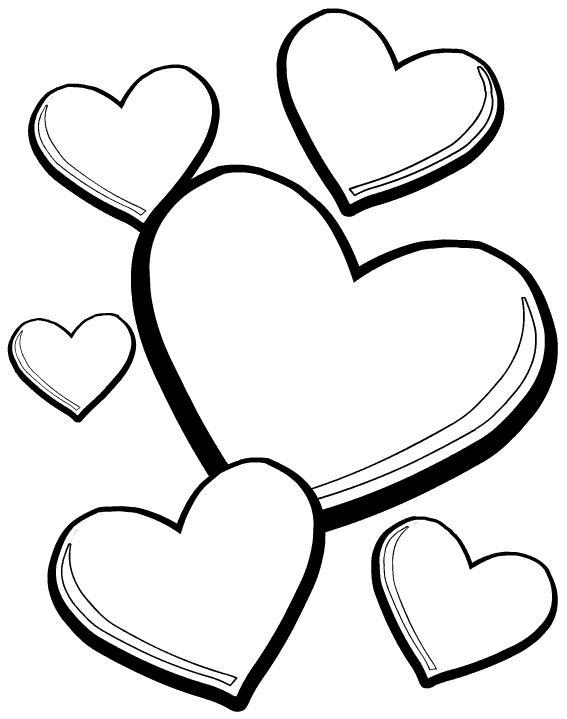 corazones para colorear 26 corazones de distintos tamanos