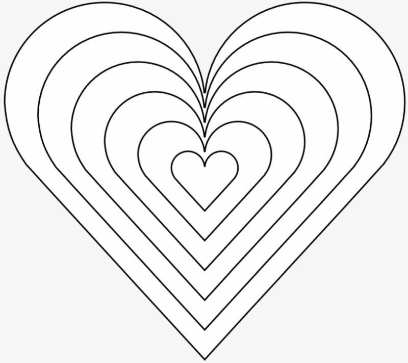 corazones para colorear 30 corazones concentricos