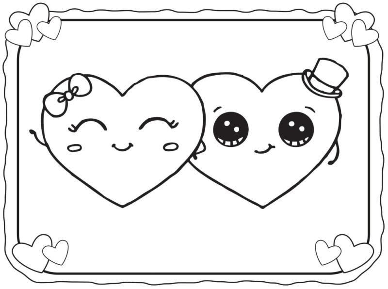 corazones para colorear 32 pareja