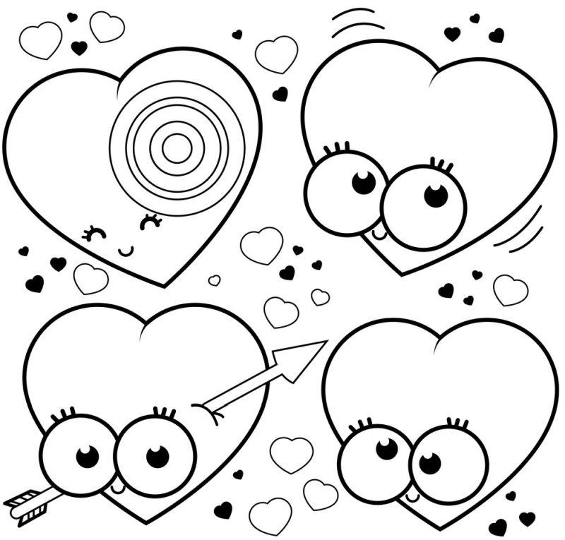 corazones para colorear 33 corazones locos