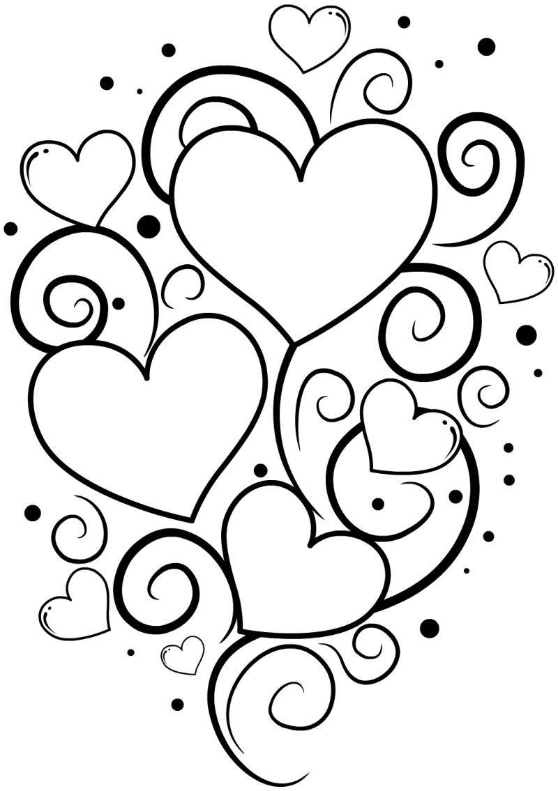 corazones para colorear 34