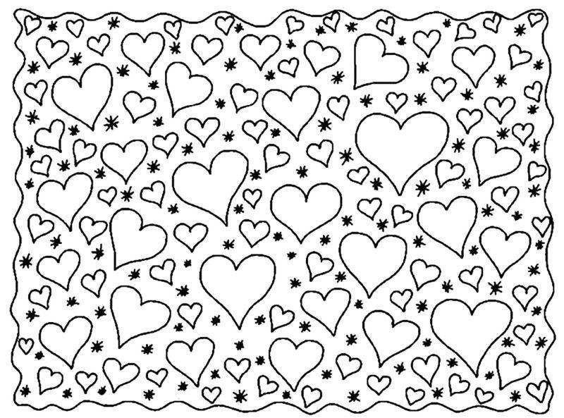 corazones para colorear 36 muchos corazones