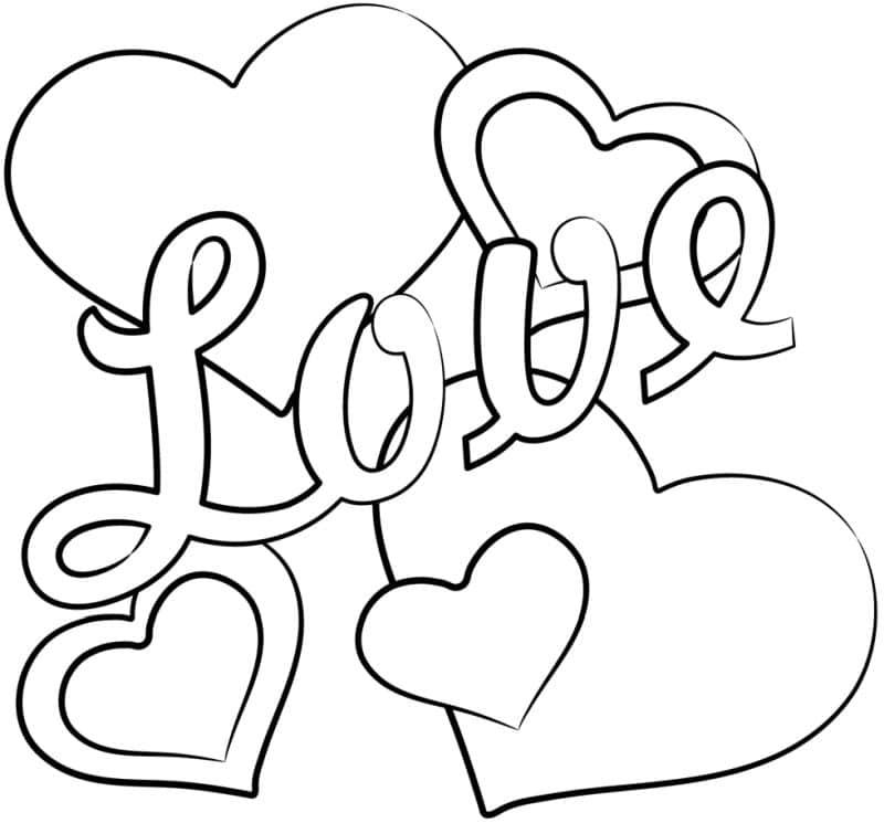 corazones para colorear 4 love