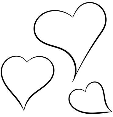corazones para colorear 5 3 corazones