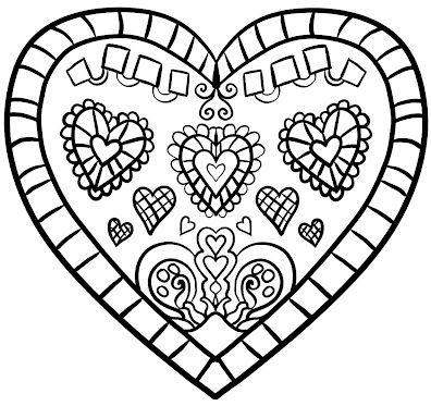 corazones para colorear 7
