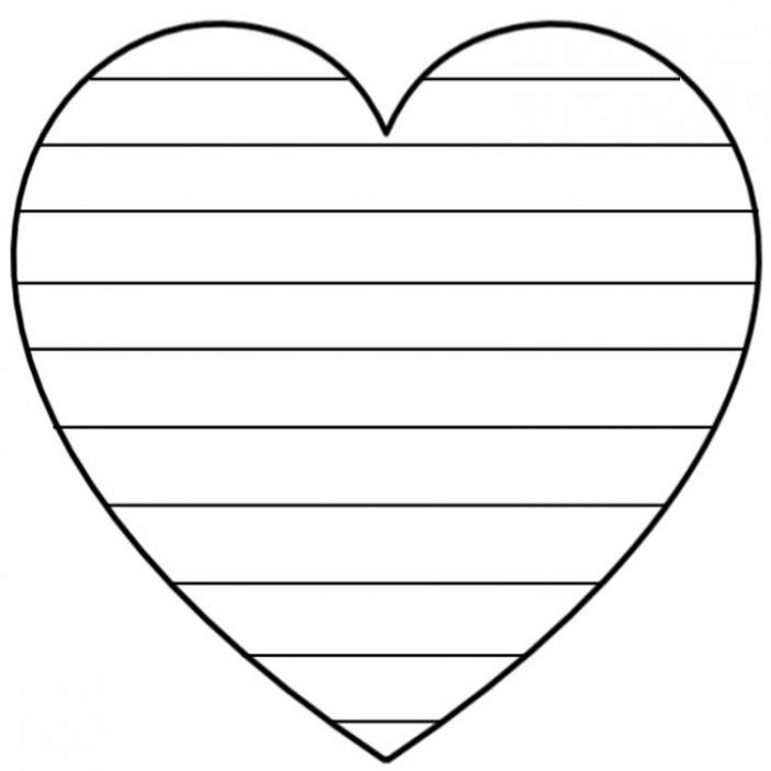 corazones para colorear 9 con rayas