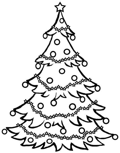 dibujos de navidad para colorear 1 arbol de navidad