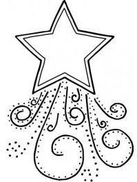 dibujos de navidad para colorear 10 estrella de navidad