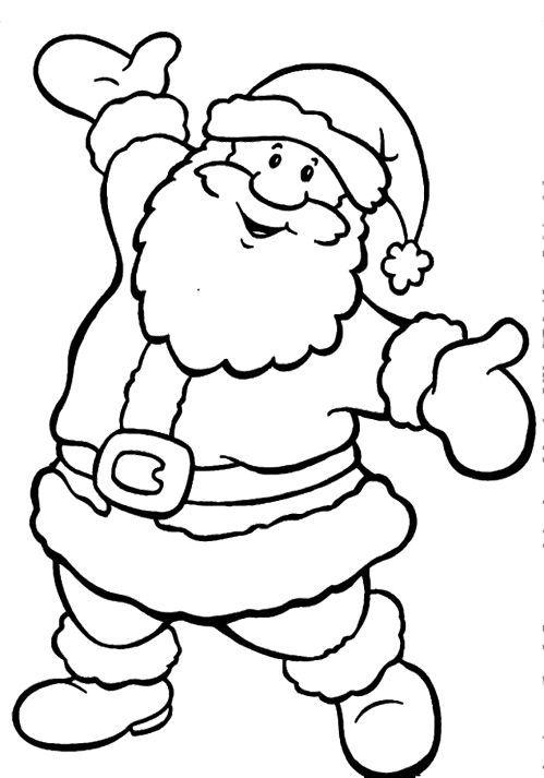 dibujos de navidad para colorear 14 papa noel