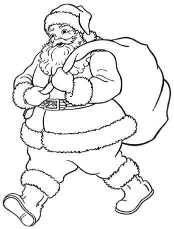dibujos de navidad para colorear 15 papa noel