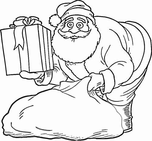 dibujos de navidad para colorear 16 papa noel