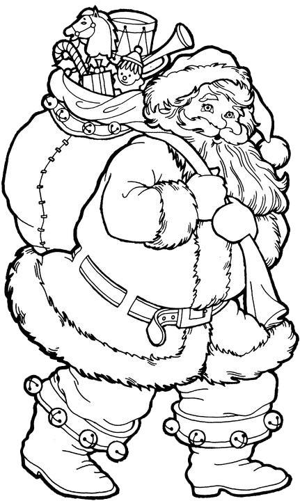 dibujos de navidad para colorear 17 papa noel
