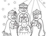 dibujos de navidad para colorear 18 reyes magos con nino jesus