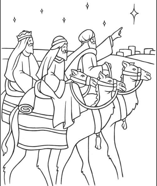 dibujos de navidad para colorear 19 reyes magos