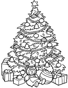dibujos de navidad para colorear 2 arbol de navidad