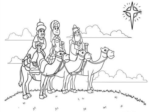 dibujos de navidad para colorear 20 reyes magos