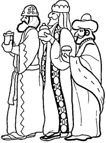 dibujos de navidad para colorear 21 reyes magos