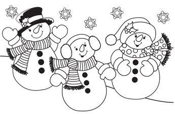 dibujos de navidad para colorear 22 munecos de nieve