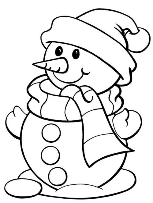 dibujos de navidad para colorear 24 muneco de nieve