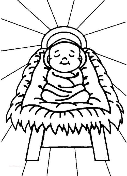 dibujos de navidad para colorear 28 nino jesus en el pesebre