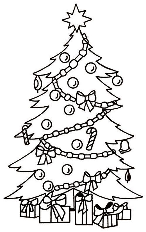 dibujos de navidad para colorear 3 arbol de navidad