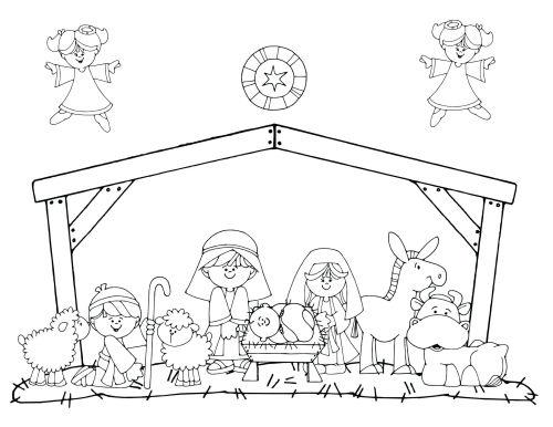 dibujos de navidad para colorear 31 portal de belen