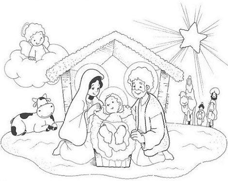 dibujos de navidad para colorear 33 portal de belen