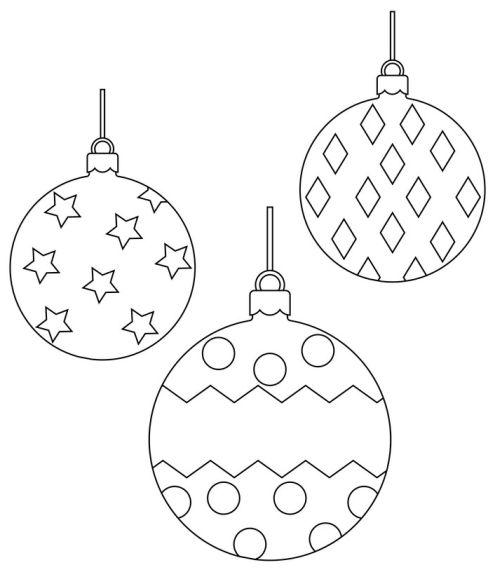 dibujos de navidad para colorear 35 bolas de navidad