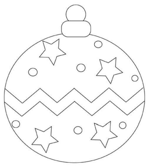 dibujos de navidad para colorear 36 bola de navidad
