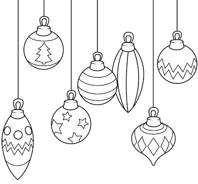 dibujos de navidad para colorear 37 bolas de navidad