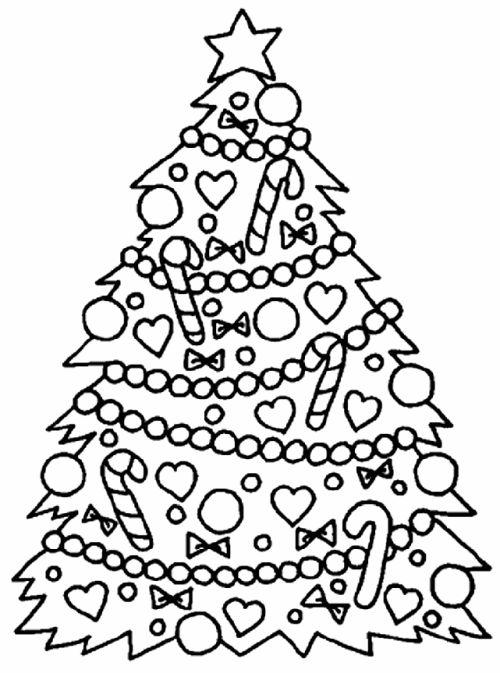 dibujos de navidad para colorear 4 arbol de navidad