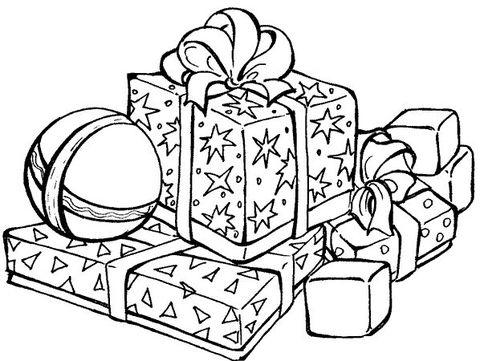 dibujos de navidad para colorear 40 regalos de navidad
