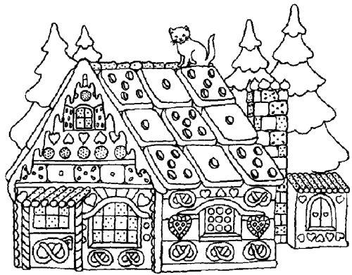 dibujos de navidad para colorear 43 casa en navidad