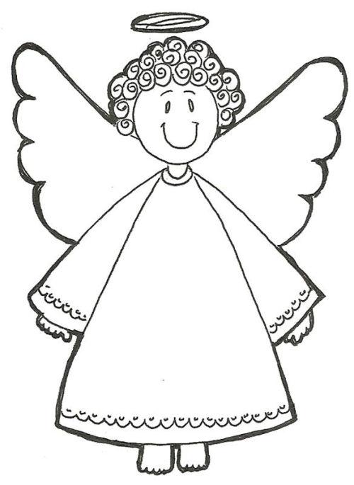 dibujos de navidad para colorear 8 angeles de navidad