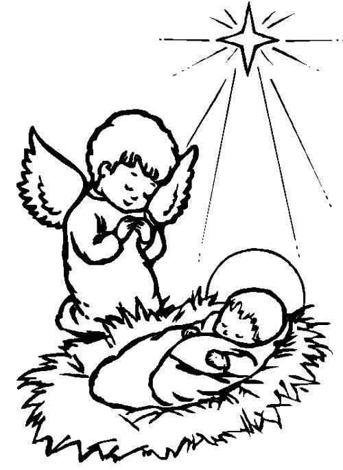 dibujos de navidad para colorear 9 angeles de navidad