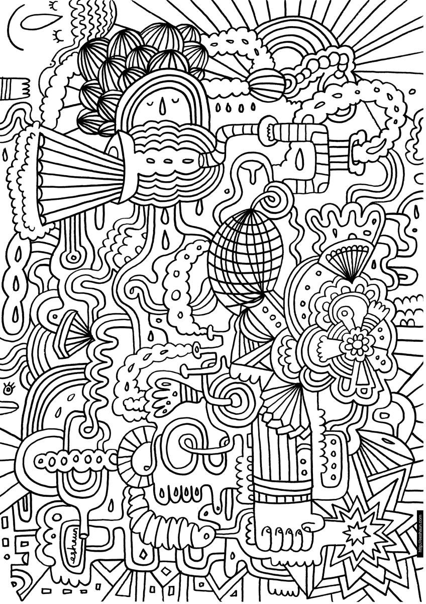 dibujos para colorear dificiles 1