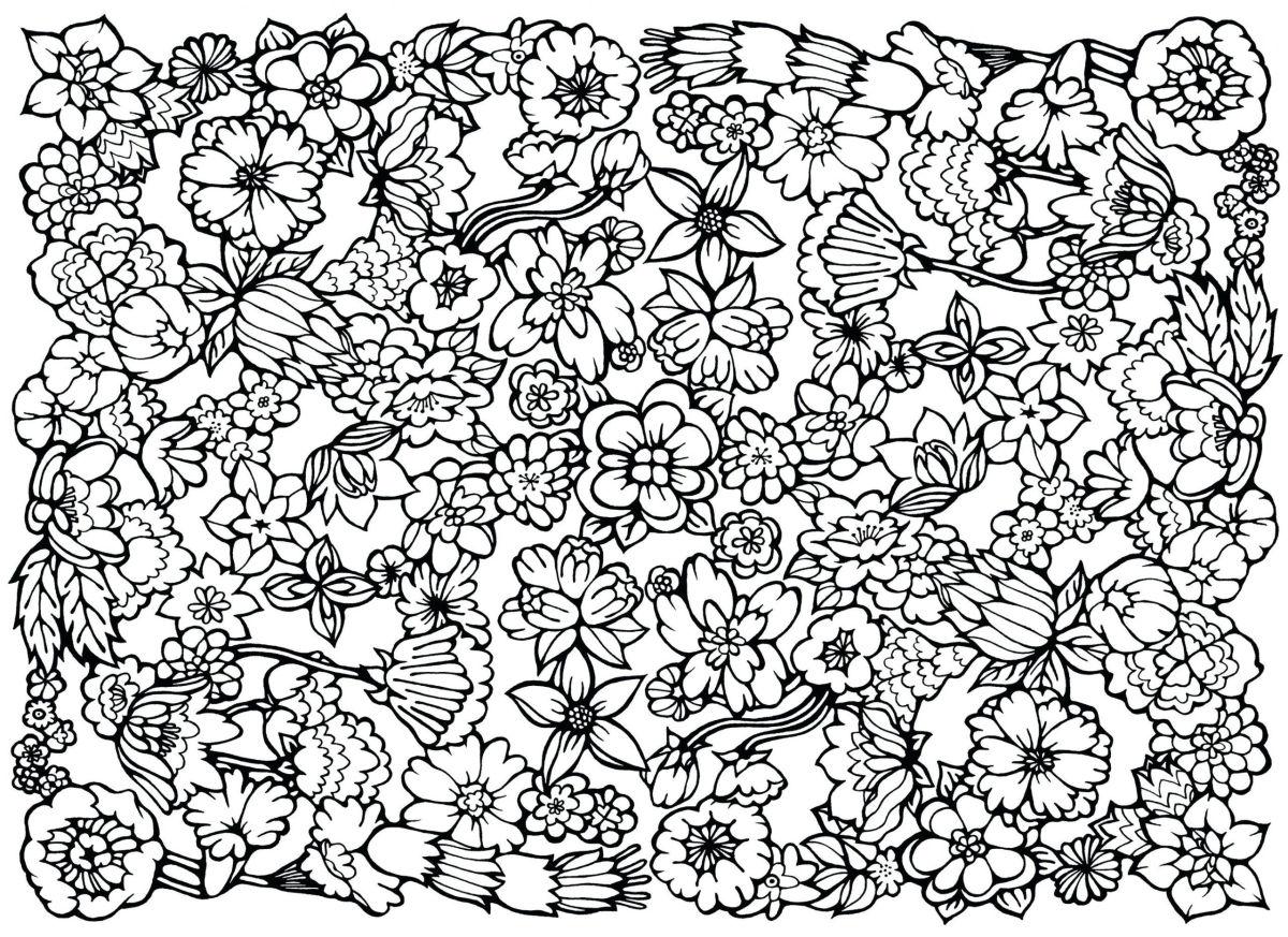 dibujos para colorear dificiles 10 flores