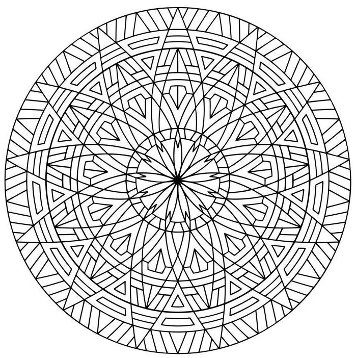 dibujos para colorear dificiles 16 mandala